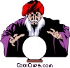 Vector Clip Art graphic  of a Magician