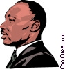 Vector Clip Art picture  of a Martin Luther King
