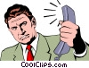 Vector Clip Art graphic  of a Businessman
