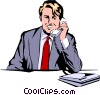 Vector Clipart illustration  of a Businessman