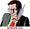 Vector Clipart graphic  of a Businessman