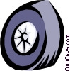 Vector Clip Art graphic  of a Tires