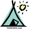 Vector Clip Art image  of a Teepee