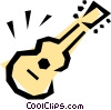 Vector Clipart graphic  of a Guitar symbol