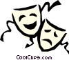 Vector Clipart graphic  of a Theatre masks