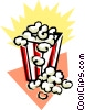 Vector Clip Art image  of a Popcorn