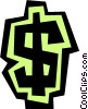 Vector Clipart image  of a Dollar sign