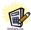 Vector Clipart graphic  of a Calculator