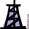 Oil well Vector Clip Art graphic