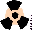 Vector Clip Art graphic  of a Radioactive symbol