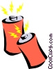 battery Vector Clipart illustration