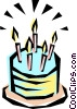 Cool birthday cake Vector Clipart graphic