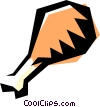 Vector Clip Art image  of a Turkey leg