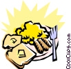 Vector Clip Art image  of a Breakfast