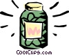 Pickle jar Vector Clip Art picture