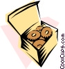 Vector Clip Art graphic  of a Doughnuts