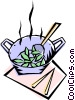 Vector Clipart picture  of a Stir fry