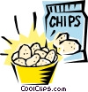 Vector Clip Art picture  of a Potato chips