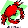 Vector Clipart graphic  of a Crabs