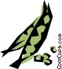 Vector Clipart graphic  of a Cool peas