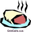 Roast beef Vector Clipart illustration