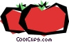 Vector Clip Art image  of a Cool tomatoes