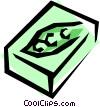 Frozen peas Vector Clip Art picture