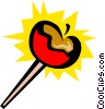 Candy apples Vector Clipart illustration