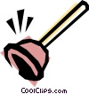 Plunger Vector Clipart graphic