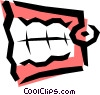 False teeth Vector Clipart illustration