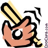 Vector Clipart graphic  of a Baseball gloves