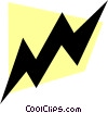Vector Clip Art picture  of a Lightening bolt