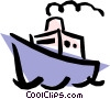 Cruise ship Vector Clip Art graphic