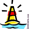 Vector Clip Art image  of a Channel buoy
