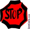 Vector Clipart illustration  of a Stop sign