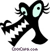 Vector Clip Art picture  of a Weird animal