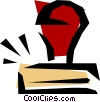Vector Clipart illustration  of a Rubber stamps