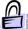 Vector Clip Art picture  of a Lock