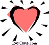 Vector Clip Art graphic  of a Valentine heart