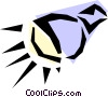 Vector Clip Art graphic  of a Spotlight
