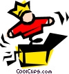 Vector Clip Art graphic  of a Jack-in-the-box