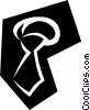 Vector Clip Art graphic  of a Tie