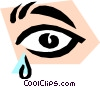 tears Vector Clipart illustration