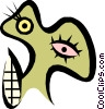 Vector Clip Art image  of a Weird face