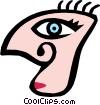 Vector Clip Art graphic  of a Weird face