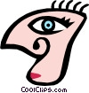 Weird face Vector Clip Art picture