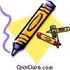 Vector Clipart graphic  of a Cartoon crayons