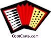 Vector Clip Art graphic  of an Accordions