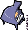 Vector Clipart illustration  of a Grand pianos