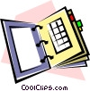 Appointment book Vector Clipart illustration